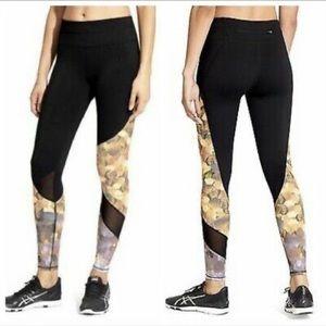 Athleta Leggings Asym Mesh Sonar Yoga Size Large